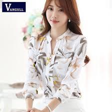 trendy blouses 2017 summer fashion v neck chiffon blouses slim