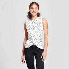 black and white blouses shirts blouses target