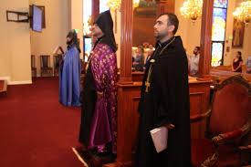 newly ordained rev fr movses shannakian celebrates first divine