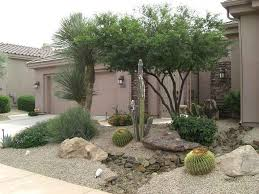 desert landscaping rock on xeriscaping in peoria secret garden