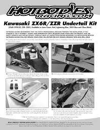 zx6r undertail 1999 02 bodies racing