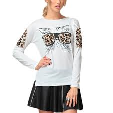 2015 autumn fashion new trendy women clothes tops tees leopard