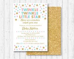 twinkle twinkle little star gender reveal invitation twinkle
