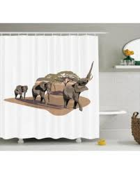 huge deal on elephants decor shower curtain set african elephants