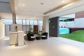 trend photo of kitchen living room open floor plan minimalist