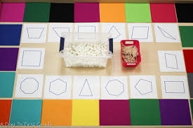 a day in first grade exploring shapes with kindergarteners
