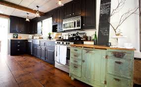 Antique Green Kitchen Cabinets One Color Fits Most Black Kitchen Cabinets