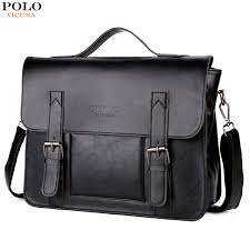 Cover Bag Polo Vicuna Polo Promotion Brand Cover Open Mens Leather Handbag Vintage