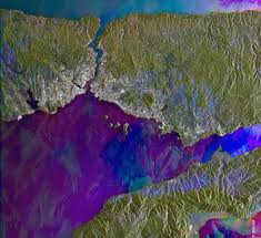 Bosphorus Strait Map Bosphorus Turkey Sar Orbit Number 48286 2004 07 15