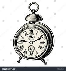 clock vintage engraved illustration catalog french stock vector