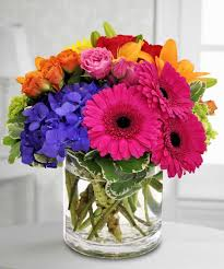 gerbera bouquet happy day bouquet this bouquet is blooming with vibrant colors to