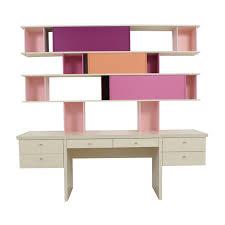Modern Desk Sale by 47 Off Crate U0026 Barrel Crate U0026 Barrel Pilsen Desk Graphite Grey