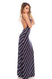 sexi maxi dresses navy white stripes bare back cami maxi dress maxi dresses