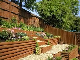 Landscaping Ideas For A Sloped Backyard Backyard Garden Ideas Home Family Desing Backyard Landscaping
