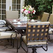 Darlee Patio by Darlee Malibu 9 Piece Cast Aluminum Patio Dining Set With Granite