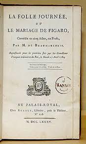 le mariage de figaro beaumarchais le mariage de figaro wikipédia