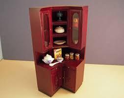corner kitchen cabinet estate sale bespaq mahogany filled provencial corner kitchen cabinet 1 12 scale