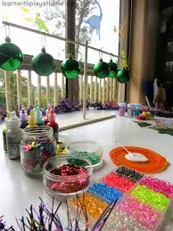 learn with play at home christmas decoration creation station