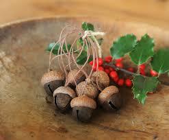 acorn ornaments made with rusty jingle bells u0026 acorn caps