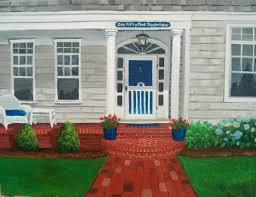cape cod summer house painting of your house to take home