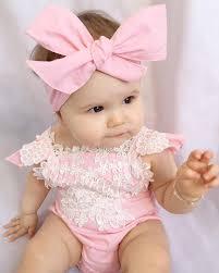 Fabuloso Roupinha para bebê menina, 2 Peças Rosa Romper de renda! FRETE  &PK41