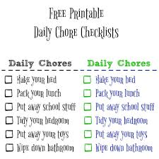 teaching kids to be clean u0026 organized with a free printable chore