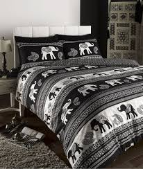 empire indian elephant animal print king bed duvet quilt cover