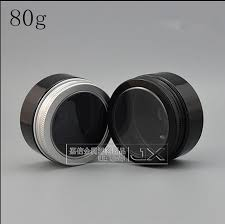 Pomade Kecil free shipping 80g ml black plastic empty packaging jar with clear