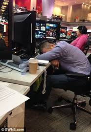 Picture Of Someone Sleeping At Their Desk Bbc Workers Snapped While Asleep At Their Desks Daily Mail Online