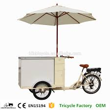 box cart ice cream bikes cart with cooler box freezer tricycle for factory