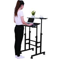 mobile office desk sdadi mobile stand up desk height adjustable home office desk with