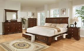 King Bedroom Sets Furniture Dark Cherry Storage King Bedroom Set By Lifestyle Furniture My