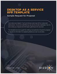 virtual desktop provider u0026 vdi rfp template dizzion