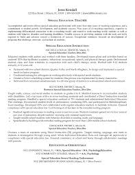 paraprofessional resume samples luxury special education teacher