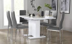Dining Room Sets Dining Tables  Chairs Furniture Choice - Grey fabric dining room chairs
