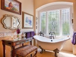 Glass Tile Border Bathroom Beige Tile Gray Cabinets Mid Sized Contemporary Corner