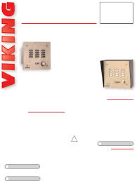 viking intercom system e 30 pdf installation manual free download