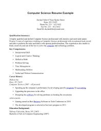 science resume exles resume exles computer science exle template