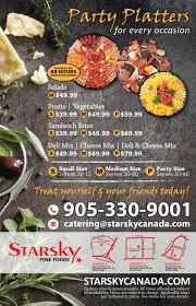 starsky foods european style catering toronto mississauga