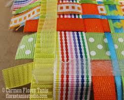 woven ribbon crafts make a woven ribbon mirror