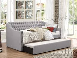 Daybed With Trundle And Mattress Homelegance Sleigh Daybed With Tufted Back Rest And