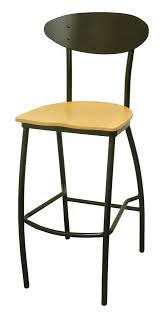 Stools With Backs Furniture Black Metal Wool With Wooden Seat And Oval Back Plus