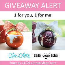 giveaway coton colors ornaments the style ref the