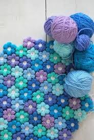 Free Pattern For Crochet Flower - crochet puff flower blanket free pattern crochet flowers free