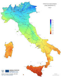 map of italy images irradiation map italy mapsof net