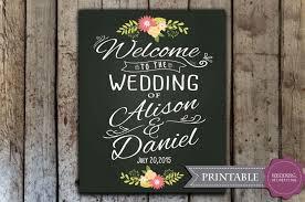 wedding chalkboard custom wedding welcome sign printable wedding chalkboard welcome
