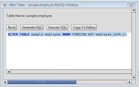 Mysql Delete From Table Mysql Drop Foreign Key From A Mysql Database Table Via The Alter