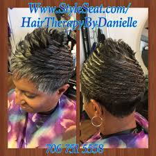 short freeze curl hairstyle hairtherapybydanielle pinterest