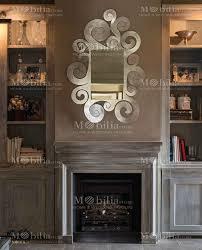 specchi con cornice da parete con cornice arricciata arti e mestieri
