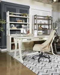 large home office jonileene white gray home office large leg desk h642 44 home